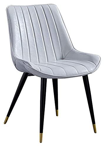 Sedia da pranzo di lusso, sedie da cucina per il salotto, per il tempo libero, sedie ad angolo, in ecopelle, con schienale e seduta imbottita (colore: bianco)