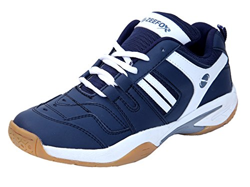 ZEEFOX Men's Navy Blue Badminton Shoes - 8 UK