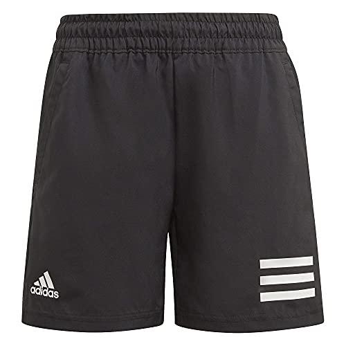 adidas B Club 3s Short Kinder Shorts, Jungen, Kurze Hose, GK8184, schwarz/weiß, 12 años