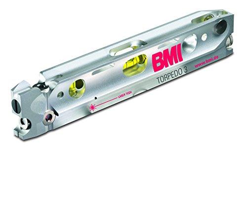 BMI 650024635M Laser / 3 Strahl Laser Torpedo 3   + Nivellier-Plattform, Batterien   im robusten Alugehäuse, Haftmagnete in der Messfläche   Laserklasse 2, Genauigkeit: ± 6 mm/20 m, bis zu 30 m
