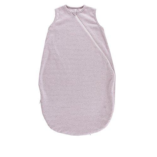 Popolini Sommer-Schlafsack ohne Arm 1-lagig Bio-Baumwolle rosa-grau (Gr. L - 110 cm)