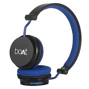 boAt Rockerz 400 Wireless Bluetooth On Ear Headphones with Mic (Black/Blue)