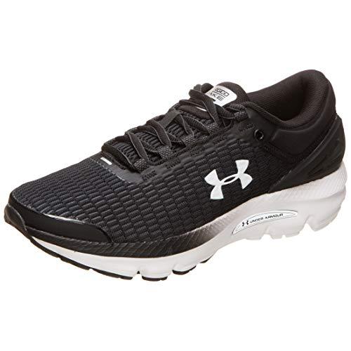 Under Armour Women's Charged Intake 3 Running Shoe, Black (003)/White, 10.5