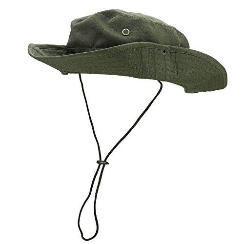 FALETO Outdoor Boonie Hat Wide Brim Breathable Safari Fishing Hats UV Protection Foldable Military Cap