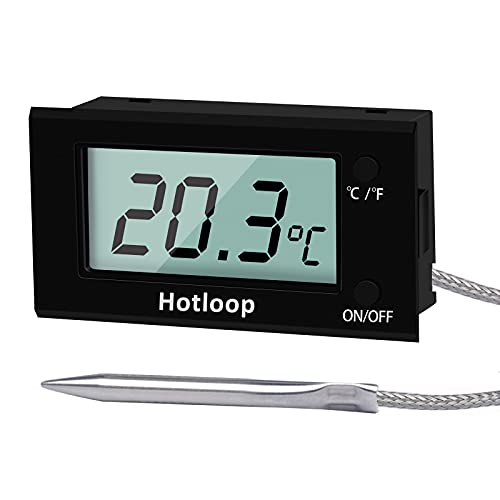 Hotloop Backofenthermometer Digitales Bratenthermometer, Fleischthermometer für Backofen mit Großer Anzeige, Temperaturbereich bis 300°C (Neues Update, Sonde)