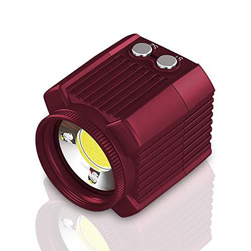 Mini Recargable LED Video Light Diving Fotografía Lámpara Submarino 60M Impermeable IPX8 Iluminación de Camping Compatible con dji Drone/GoPro/DSLR Cámaras/Videocámaras/Action Cameras/Smartphone