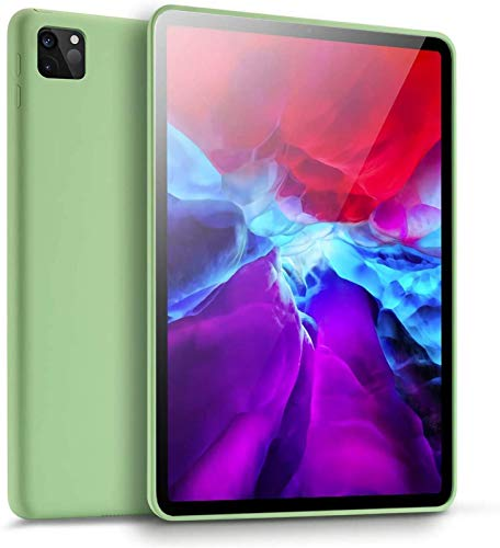 Funda para iPad Pro 11 2020, Funda De Silicona, Funda De Goma De Gel De Silicona Líquida, Protección De Cuerpo Completo, Funda a Prueba De Golpes, Protección contra Caídas,Green