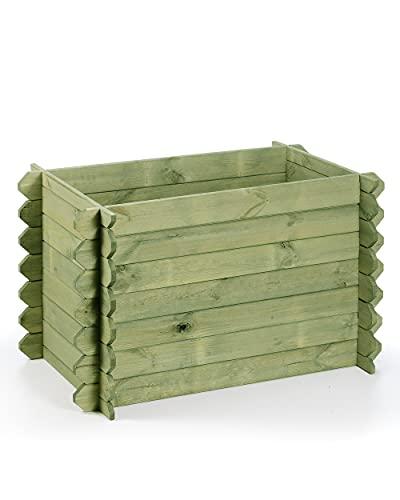 myGardenlust Hochbeet aus Holz - Stecksystem - Kräuterbeet Bausatz für Garten Terrasse und Balkon - Pflanzkübel Grün als Gemüse Kräuter Beet - Pflanzkasten Groß für Outdoor
