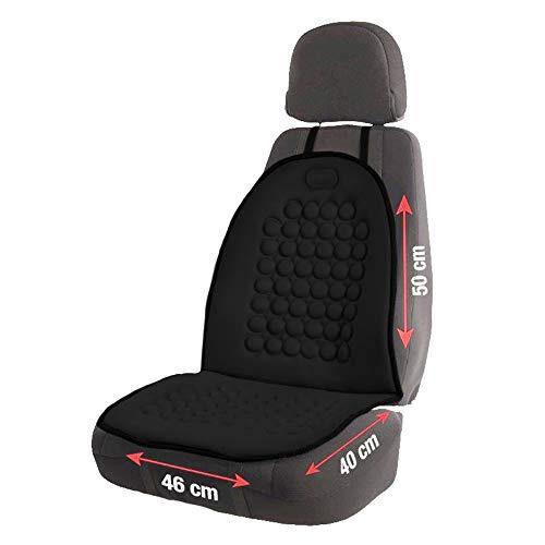 PRIOPA Magnet Sitzauflage Sitzbezug Sitzaufleger Bezug Sitz Autositz Auto magnetisch Noppen universal Massage anatomisch richtiges Sitzen Magnetic seat Cover schwarz 95x46 cm