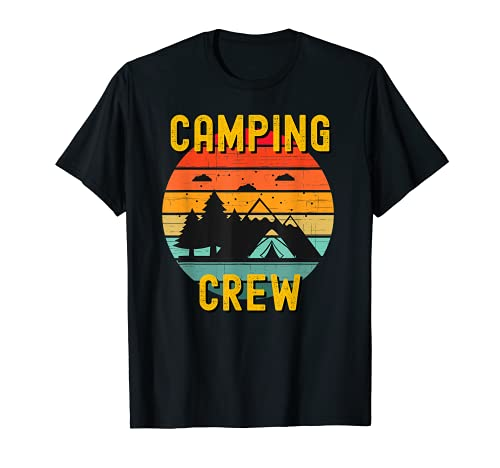 2021 Camping Crew Family Camper Road Trip Matching Group T-Shirt