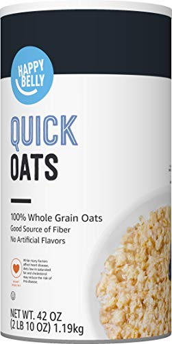 Amazon Brand - Happy Belly Quick Oats, 42 Ounce