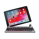 Brydge iPad Air / Air 2 & iPad Pro (9.7インチ) 用 Bluetooth ワイヤレス 一体化型 アルミニウム キーボード ケース スペースグレー