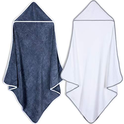 2 Stücke Baby Bad Handtuch mit Kapuze Badetuch Weich und Saugfähig für Babys Kleinkinder Säugling Neugeborenes Baby Registrierung Baby Dusche
