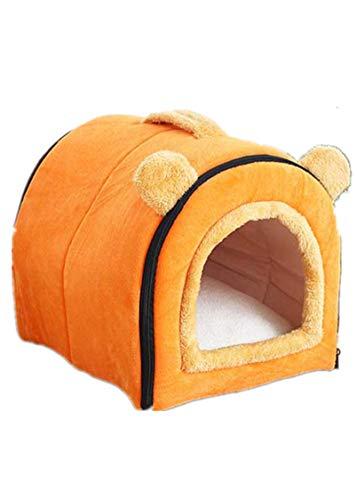 LYH In Vier Jahreszeiten, Weichen, Faltbaren, Abnehmbar Und Waschbar, Handle Katzentoilette, Hunde Wurf, Haustier Wurf (L,orange)