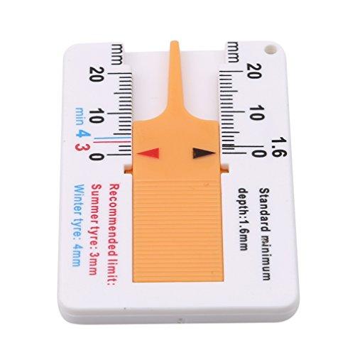 HKUN タイヤ溝測定ゲージ ミニデップスゲージ タイヤ磨耗計 デプスゲージ 深さ測る