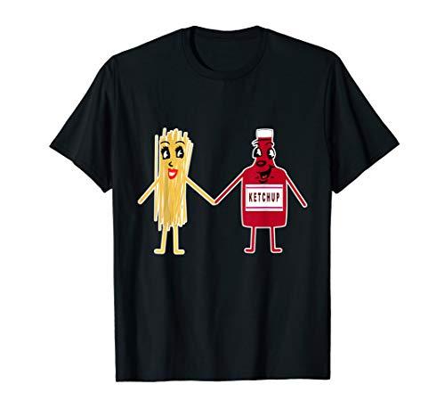 Spaghetti Nudeln Mit Ketchup Pasta I Lustiges Studenten T-Shirt