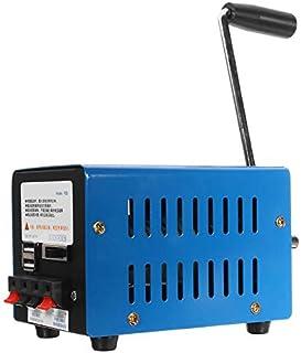 Gaoominy Generador de Manivela de Mano de Emergencia de Alta Potencia Cargador de Mano Portátil de Emergencia Manivela de Carga USB