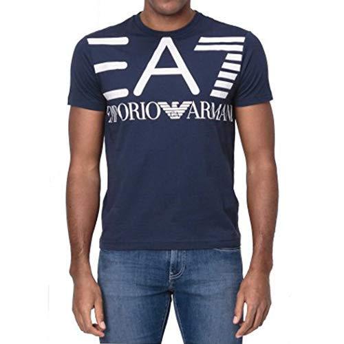 Armani Jeans 3GPT06 Camiseta, Hombre, Marino, XL
