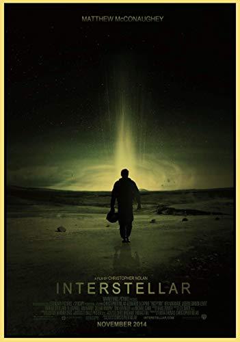 xmydeshoop Science-Fiction-Abenteuer Interstellar Film Retro-Stil Papier Poster Home Wandkunst Wandaufkleber Bar Café Dekoration 50x70cm No Frame PQ-215