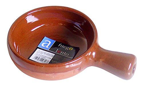 A Fuego Lento Cazuela Sartén Llana Horno, Barro, Miel, 13 cm