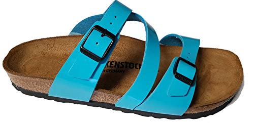 BIRKENSTOCK Pantolette Sandale Salina Scuba Blue 1012075, Größe + Weite:39 schmal, Farben:Scuba Blue