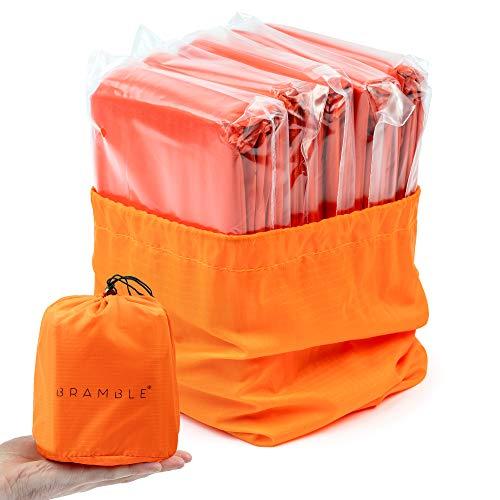 Bramble 5 Pezzi Sacco a Pelo d'Emergenza, 213x91cm - Coperta di Sopravvivenza, Isolamento Termico