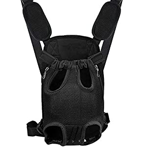 BEIKOTT Cat Backpack Carriers, Pet Front Backpack Carriers for Small Cats Dogs Puppies Teddy, Adjustable Ventilate Backpack for Travel/Hiking/Camping/Outdoor Use