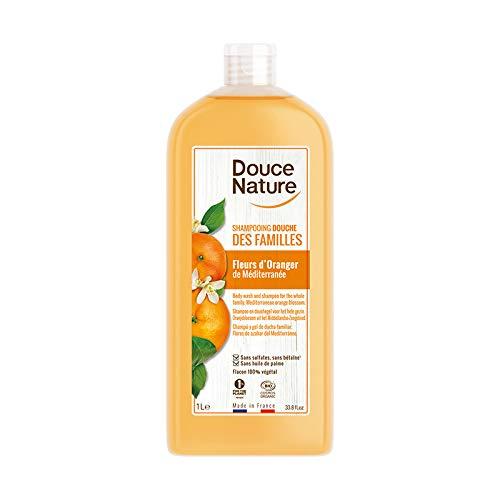 DOUCE NATURE Shampooing douche des familles Medicago et eau florale de cassis bio - 1L