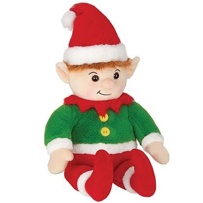 Bearington Elfie Christmas Plush Stuffed Santa's Elf, 15 Inches