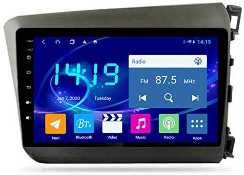 Hesolo Radio Multimedia para Coche con navegación Compatible con Honda Civic 2012-2015 RHD Navegación para Coche Android Pantalla Grande Navegador GPS 4G + 64G