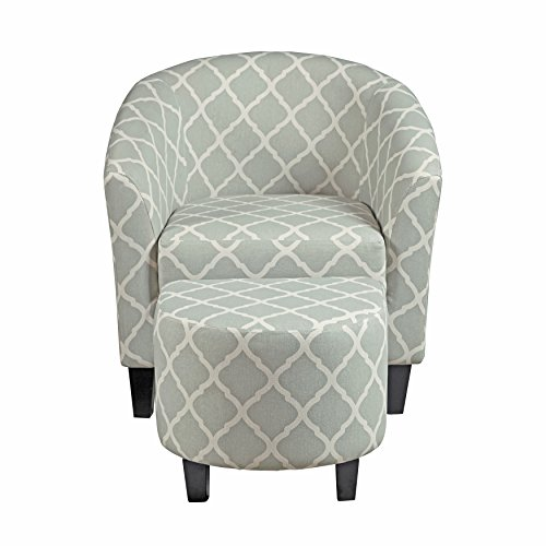 Pulaski Upholstered Barrel Accent Chair, Grey