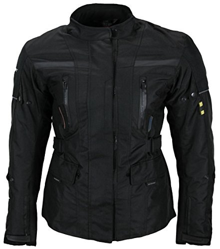 Heyberry Textil Damen Motorradjacke Lang Schwarz Gr. M - 2