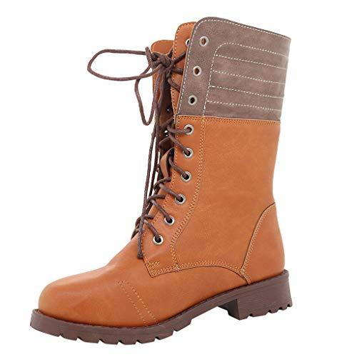 Posional Zapatos Botines De Punta Puntiaguda para Mujer Botas Calzados TacóN Ancho...