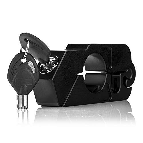 KKmoon Candado Moto Antirrobo,CNC Bloqueo de Freno de Disco de Seguridad para 35MM Manillar con 2 Llaves para Moto Bicicleta