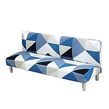 C/N Fundas de sofá sin Brazos Funda de sofá Cama Clic clac Plegable Funda de sofá elástica sin Brazos Funda Clic clac 3 Plaza Estampado