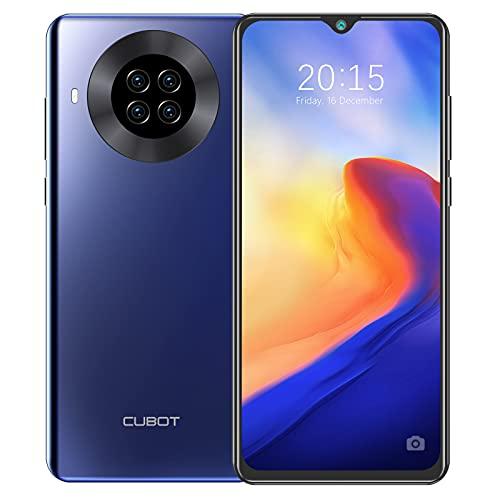CUBOT NOTE 20 PRO Smartphone 128GB ROM / 8GB RAM Octa Core 6.5 Pollici HD+ Celluare Offerta Quad Fotocamera Batteria 4200mAh Supporto Face ID, NFC, Dual SIM, 4G Blu