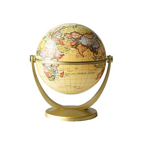 ALG Globo terráqueo Infantil de 360 °, Mini geografía de Escritorio portátil pequeña, Material plástico Liso, Duradero y Estable, no ocupa Espacio