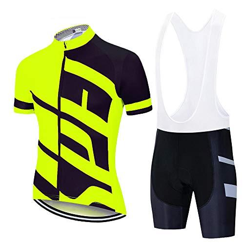 HXTSWGS Conjunto de Jersey de Ciclismo Conjunto de Ropa de Ciclismo de montaña de Carretera de Verano Conjunto de Ropa Deportiva de Bicicleta MTB Ciclismo-A09_3XL