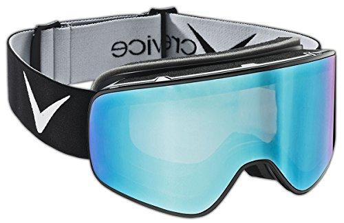 Black Crevice Framelessskibrille mit wechselbarer Scheibe