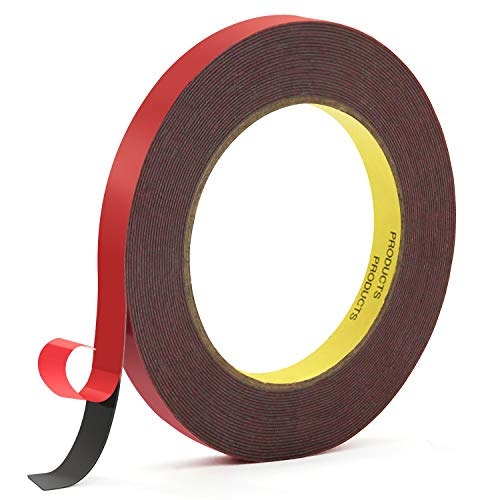 HitLights Double Sided Tape Heavy Duty Mounting Tape VHB Waterproof Foam Tape, 32ft Length, 0.39Inch Width for LED Strip Lights, Home Decor, Office Decor