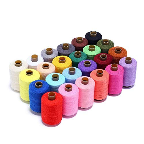 Candora Sewing Thread Assortment Coil 24 Color 1000 Yards Polyester Thread Sewing Kit All Purpose Polyester Thread for Hand and Machine Sewing
