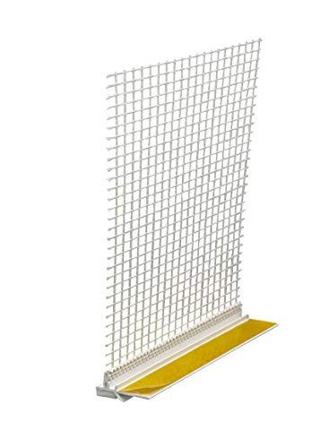 Anputzleiste Schutzlippe & Gewebe 1,40 m 9 mm Putzleiste Fensterleiste 140 cm