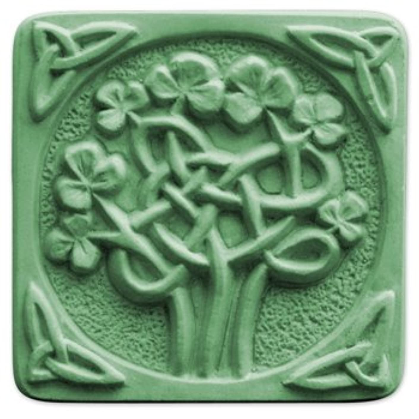 Milky Way Celtic Clover Soap Mold Tray - Melt and Pour - Cold Process - Clear PVC - Not Silicone - MW 64