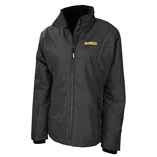 DEWALTDCHJ077D1-L DCHJ077D1 Women's Quilted Heated Jacket, Black, Large