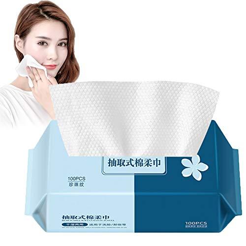 Tissu de coton pour le visage à usage unique coton non-tissé tissus mous Unscented démaquillants coton lingettes serviette en coton pour tissus peau sensible