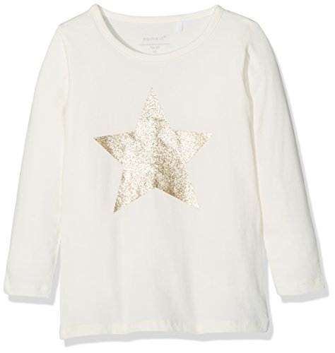 Name It Nitgestar Ls Top Box F Mini, T-Shirt à Manches Longues Bébé Fille, Blanc (Snow White), 104