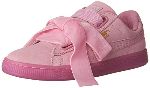 PUMA Women's Suede Heart Reset WN's Fashion Sneaker, Prism Pink, 6.5 M US