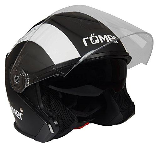 Römer Helmets Motorradhelm Koblenz Race, Matt Schwarz-Weiß, Größe M