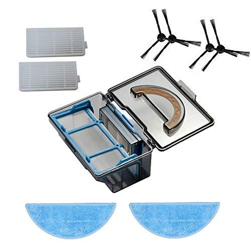 YTT Poudre Boîte * 1 + 2 * par côté Brosse + 2 * Filtre HEPA + 2 * Chiffon Serpillère pour X5 V5s V3 V3 + V5pro iLife ILife V5s Pro Robot aspirateur pièces.