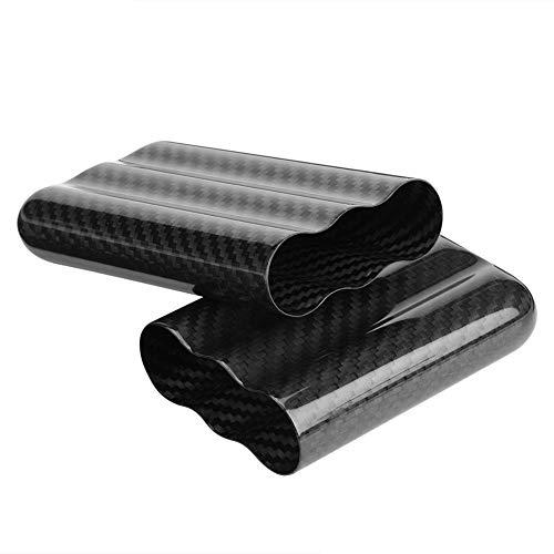 Super Carbon Fiber Material Zigarrenetui Humidors 3 Rohre Zigarrenhalter Aufbewahrungsbox Reisekoffer